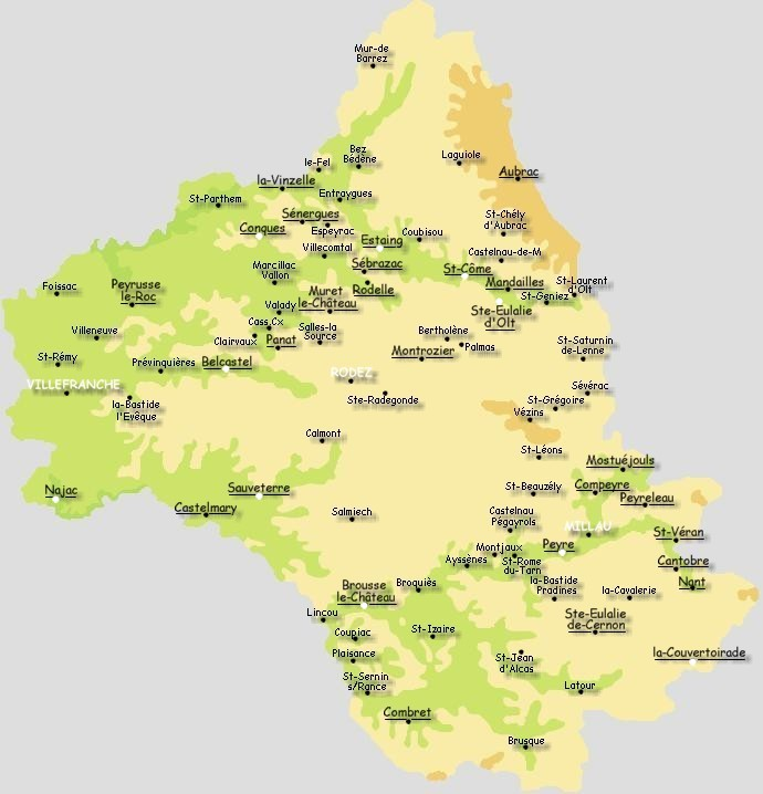 carte des plus beaux villages de l aveyron Les Plus Beaux Villages de France